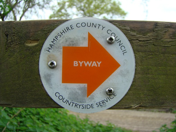 Hampshire County Council bridleway sign.