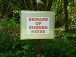Beware of sudden noises!