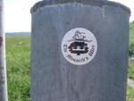 Monarch's Way sticker, nr Chanctonbury Ring.