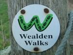 Wealden Walks sign nr barcombe