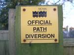 Path diversion sign