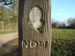 North Downs wooden sign