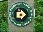 Maresfield Parish Council Millenium Footpath sign