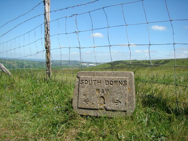 South Downs Way stone sign
