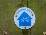 Permissive Cycle Route sign