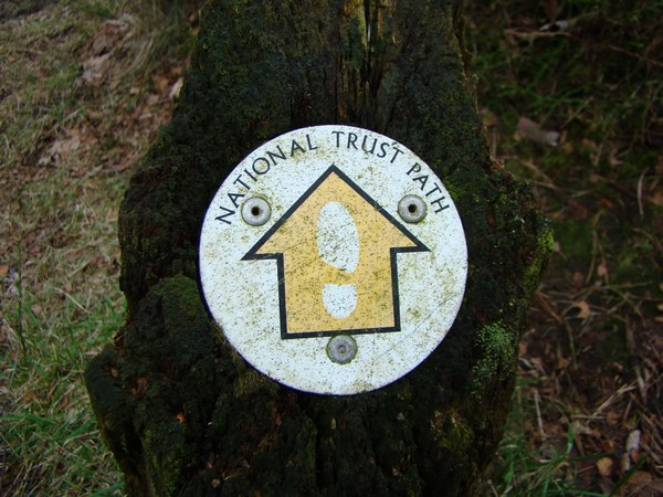 National Trust path sign