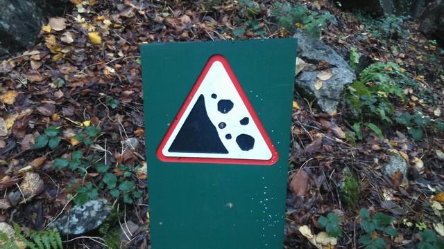 Falling rocks, Brecon Beacons.