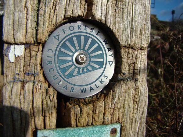Forest Way Circular Walks sign