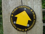The brand new public footpath signs